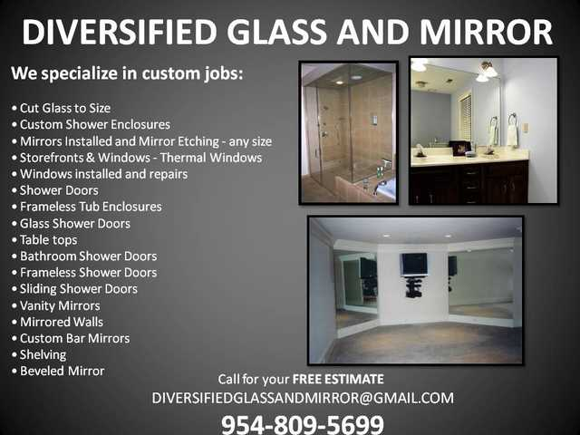 Same Day Glass & Mirror Repair - Shower Repair - Table Tops