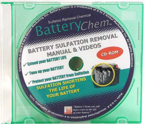 Automotive Battery Rejuvenating & Selling Manual On Cd - Rom