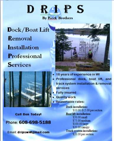 Boat Lift, Dock, Track System Removal And Installation Services