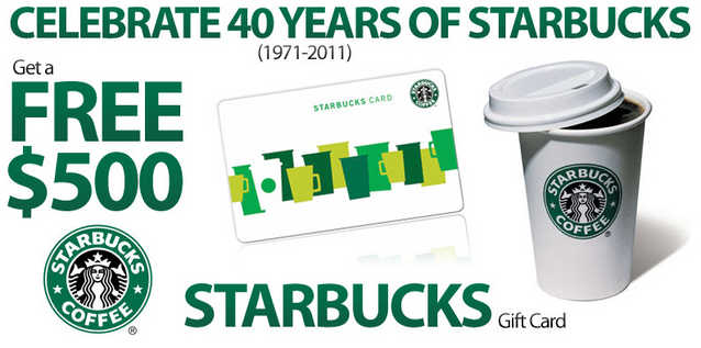 Celebrate 40 Years Of Starbucks