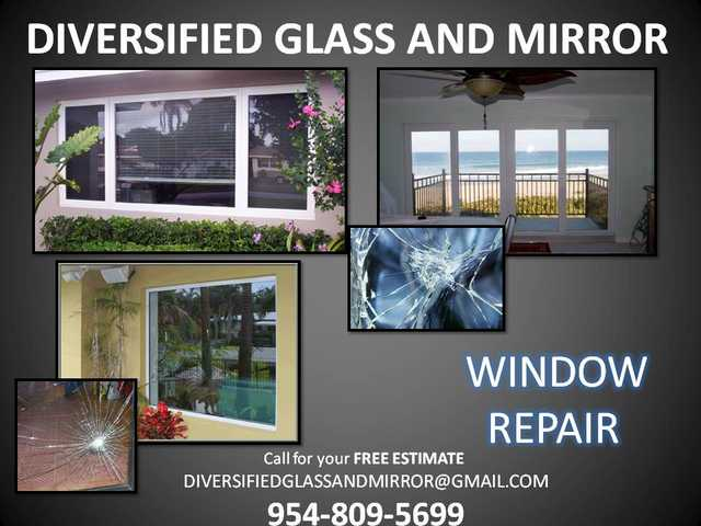 Weston, Fl Same Day Glass Repair. Window Replacement. Showers