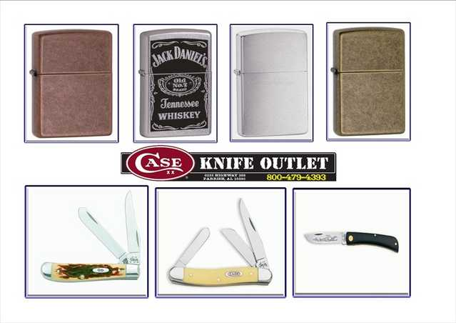 High Quality Kife (Case) And Lighters (Zippo)
