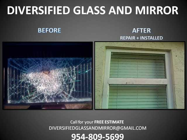 Coral Springs, Fl Window Repair, Glass Repair, Shower Enclosure