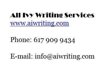 "Need An ""a"" On Your Paper? * Call Me!"