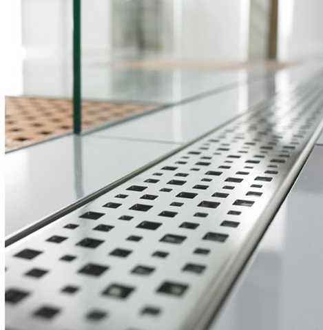 Quartz By Aco Linear Shower Drain Metal Covers