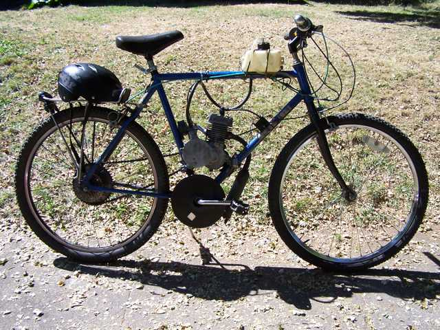Gas Powered 49cc Motorized Bicycle