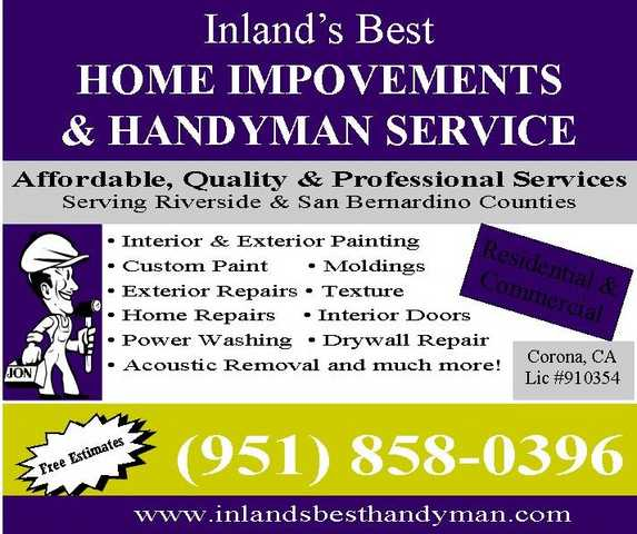 Painting Specialist ~ Inland's Best Home Improvements