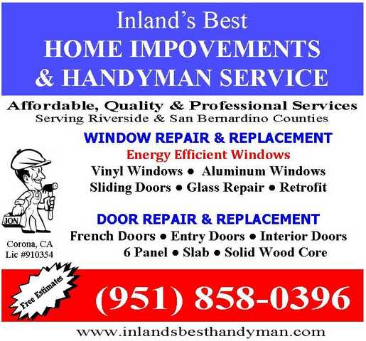 Windows & Door Specialist ~ Inland's Best Home Improvements