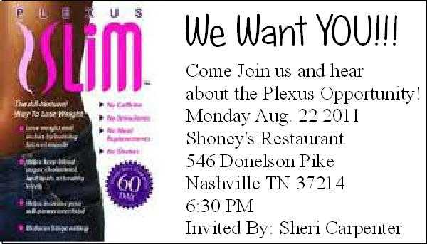 Plexus Opportunity Meeting