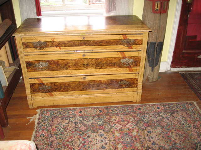 Three Drawer Antique New England Dresser For Sale