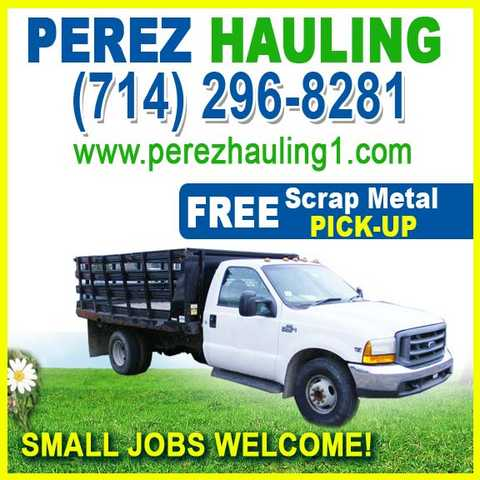 Hauling In Anaheim Garden Grove Orange County California