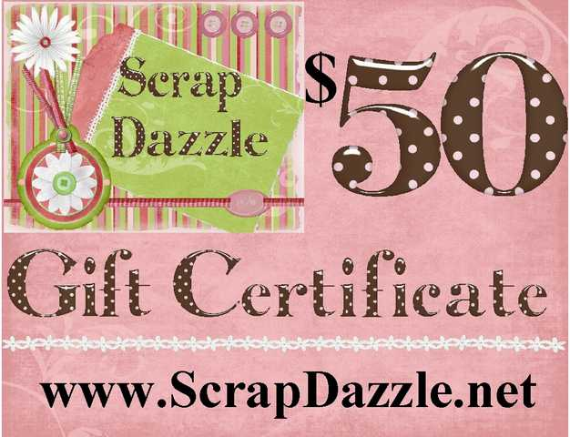 $50 Scrapbooking Gift Certificate For $25