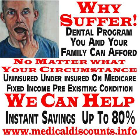 Why Suffer!? Dental Program You Can Afford