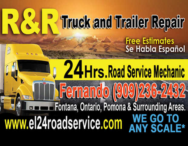Road Service Mechanic In Fontana Pomona Ontario California
