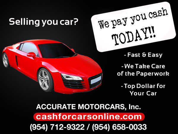 Sell Your Car To A Professional Auto Buying Service In Florida