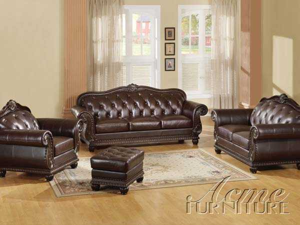 Top Gain Leather Sofa Set Item #: 15030 Set