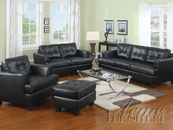 White, Black Or Red Bonded Leather Sofa Set Item #: 15095 Set