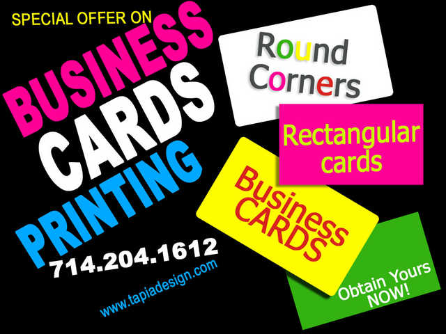 Business Cards Printing In Anaheim Irvine Tustin Fullerton Orange