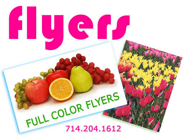 Flyers Printing In Anaheim Garden Grove Fullerton For Less
