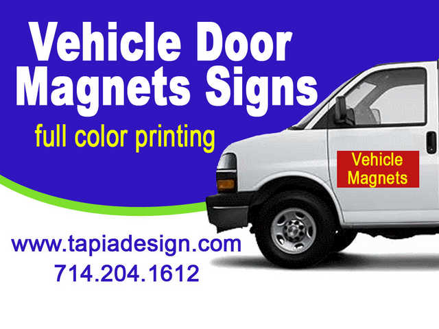 Vehicle Magnetic Signs Printing In Anaheim Buena Park California