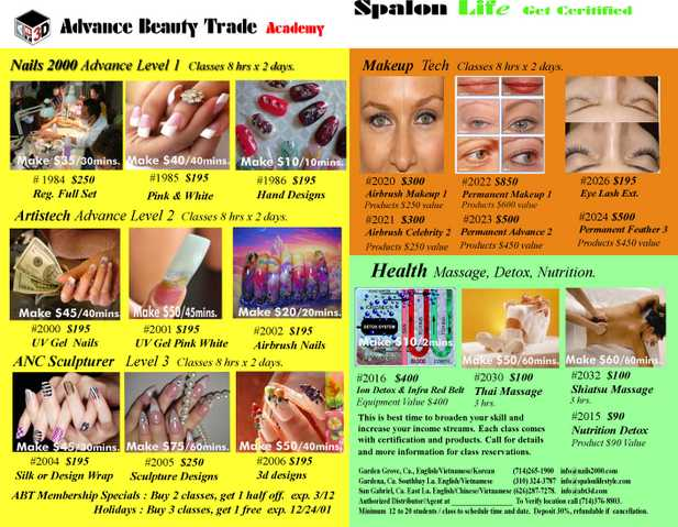 Advance Beauty Trade Classes (714) 376 - 8803