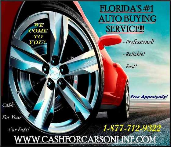 Cash For Your Car Today South Florida!