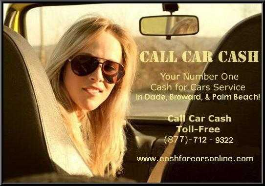 Cash For Cars In South Florida! We Buy Cars!