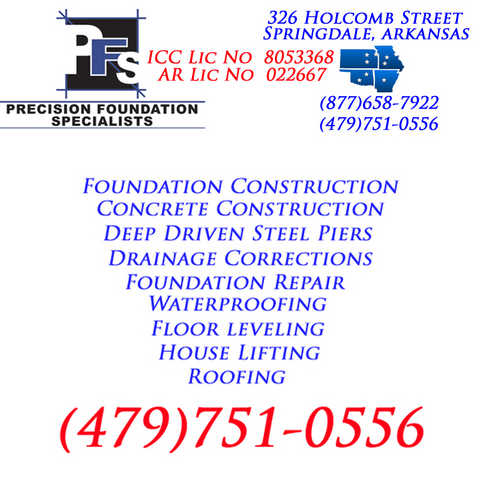 Bentonville Arkansas Foundation & Basement Repair Contractor
