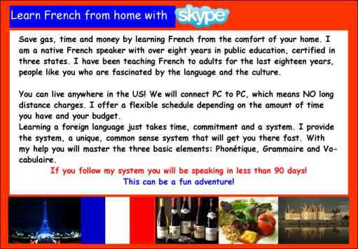 Learn French Online With An Experienced Native Speaker!