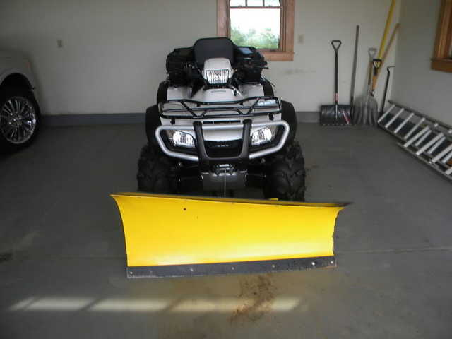 2007 Honda Trx500fe Foreman With Plow