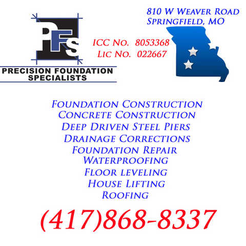 Springfield Missouri Foundation & Basement Repair Company 65810