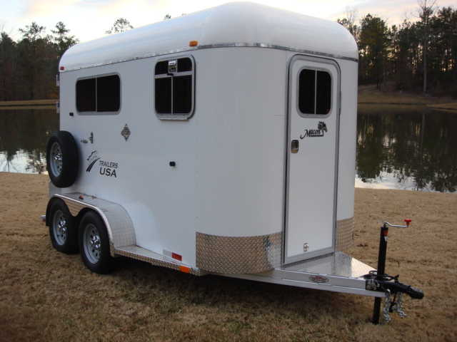 New 2014 Two Horse Enclosed Aluminum Trailer, Ramp Load!