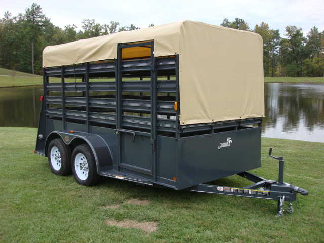 New Carry - On Livestock Trailer, 6ft X 12ft Deluxe!