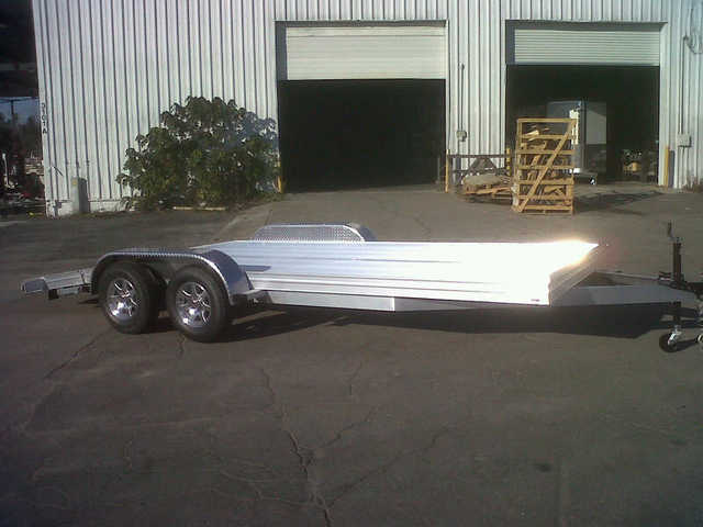 2014 Platinum Aluminum Open Car Hauler