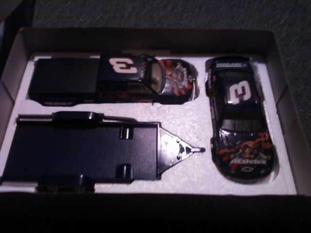 Dale Jr Acdelco Superman Truck / Open Trailer / Stockcar