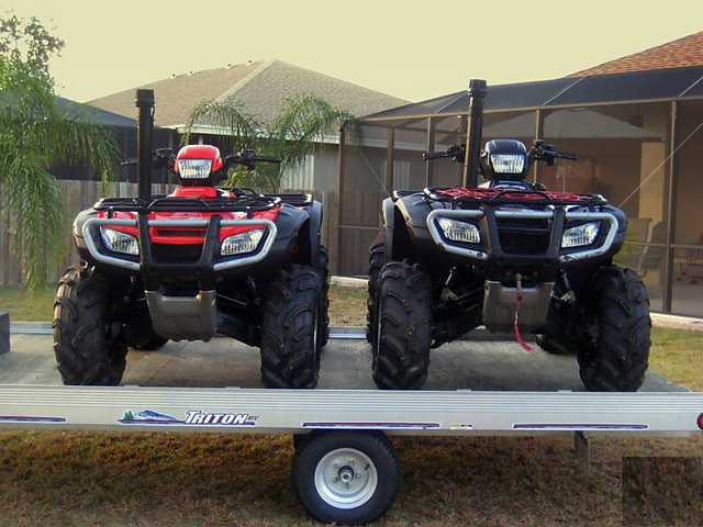 Two 2006 Atv's Honda Rubicon Wtriton / Trailer
