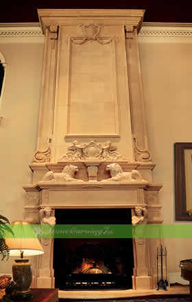Custom And Export Different Style Marble Fireplace And Other Gard