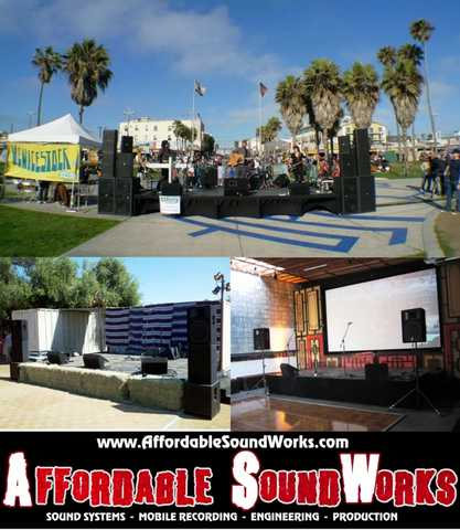 Event Sound Systems, Pa Rental With Engineer For Live Bands, Dj's