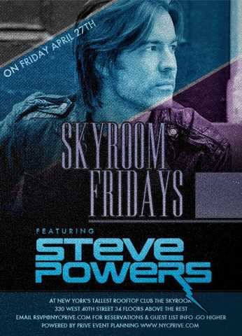 Free Entrance At Skyroom Friday With Lavo's Resident Dj Steve Pow