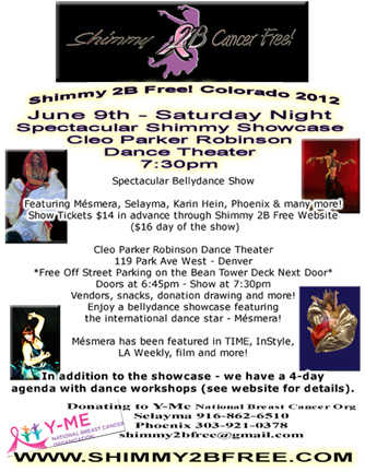 Shimmy 2b Free Bellydance Fundraiser For Y Me Breast Cancer Org