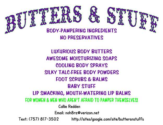 Homemade Bath & Body Products Made With Shea & Cocoa Butters