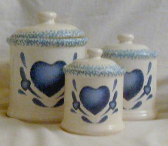 Corning - Blue Heart (Canister, Casserole, Teapot, Shakers)