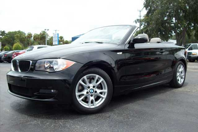 2009 Bmw 1 Series 128i Convertible - Black - Auto - 36k Mi.