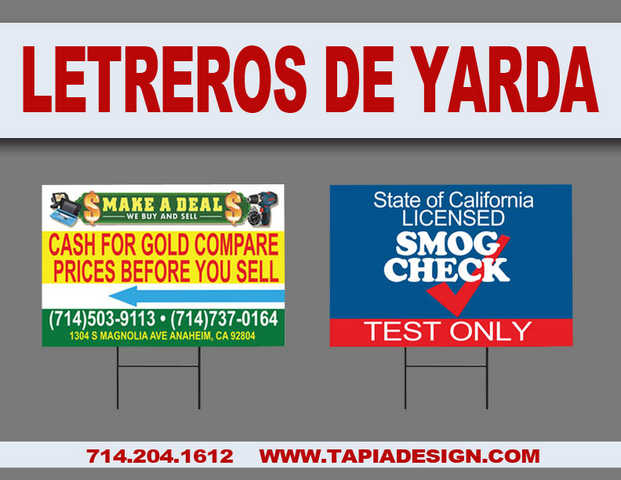 Impresion De Letreros De Yarda Yard Signs En Orange County