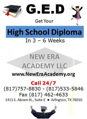 G. E. D Get Your High School Diploma In 3 - 6 Weeks