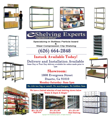New Boltless Warehouse Shelving - Will Beat Any Advertised Price!