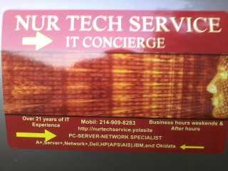 Best Price! Best Serivice. Nur Tech Service Is The Best!