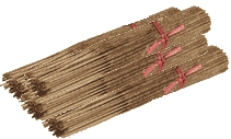 100 Incense Sticks Amber Or Hazelnut