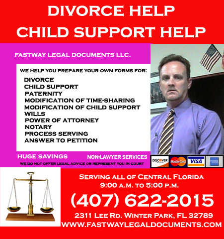 Florida Divorce Help And Child Support Help