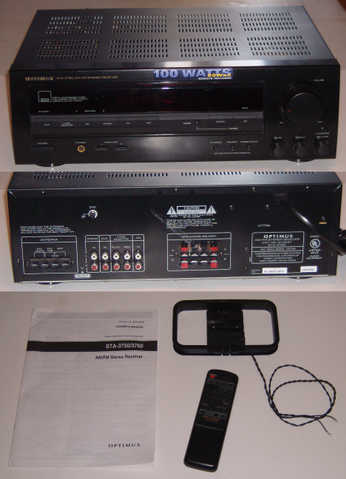 Home Stereo Receiver (100 Watts) And Other Items